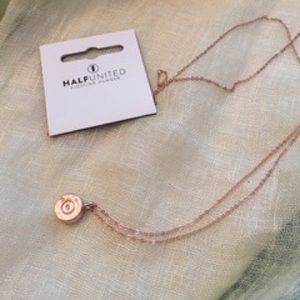 Half United Tiny Top Rose Gold Necklace